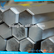 ASTM A276 AISI321 à froid et à la barre hexagonale en acier inoxydable S8 à S21 poli