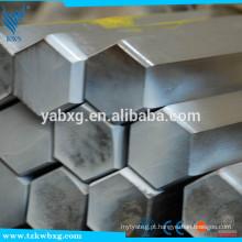ASTM A276 AISI321 empurrar a frio e polido S8 a S21 barra de hexágono de aço inoxidável