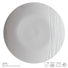 Simply Design White Porcelana Embossed Plate