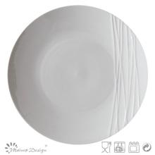 Assiette à dîner en relief en porcelaine blanche Simply Design