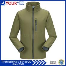 Chaqueta impermeable al por mayor de Softshell para hombre con el collar del soporte (YRK115)