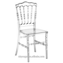 Chaise classique napoléon en résine plastique robuste et durable en style classique