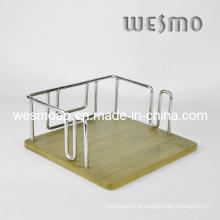 Carbonizado bambu guardanapo titular (wtb0313b)