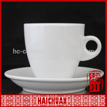 2014 hot sale hotel porcelain tea cup and saucers ceremic tea cup with flower