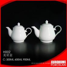 Mode-Design-Restaurant verwenden weiße Geschirr Kaffee Teekanne