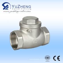 Válvula de retención oscilante de acero inoxidable 316 API