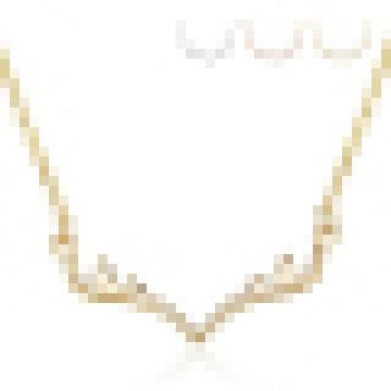 Женская стерлингового серебра 925 рога-shaped ожерелье