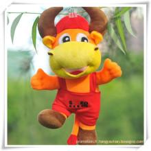 Cadeau de promotion pour animal de bande dessinée nommé Jouet de peluche Dragon Piaopiao