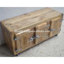 Cabinet en bois industriel Urban Logo Mango
