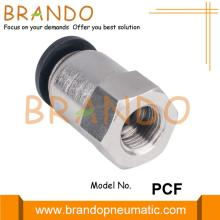 PCF Female Straight Plastic Brass Pneumatic Hose Fitting
