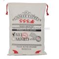 2017 New China Cheap wholesale Flax Fabric Drawstring Decoration Christmas Bag