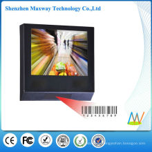 15 inch lcd advertising player with barcode reader