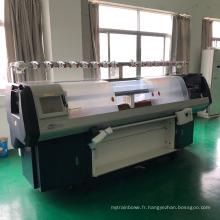 machine automatique de chandail de tricotage de double système simple de chariot avec le dispositif de peigne pour faire des chandails