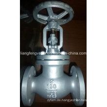 Carbon Steel Flansch End Globe Ventil mit RF Rising Stem