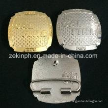 Hebillas 3D de oro y plata para pantalones