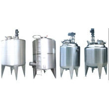 Storage Tank With Agitator Cooling and Heating Tank