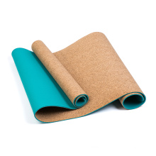2021 china hot sale factory direct double sided Eco-friendly custom print private label TPE cork yoga mat