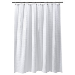 Soft Waffle Weave Fabric Shower Curtain