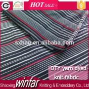 Winfar Textile space dye yarn DTY knit yarn dye fabric for briefs underpants
