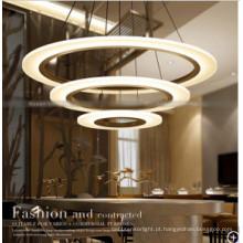 Lâmpada de pendente européia redonda moderna do estilo da lâmpada de pendente para o hotel