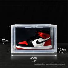 Magnetic Shoe Box Drop Sidefront Sneaker Stackable Storage Box Storage,storage Boxes & Bins Acrylic Detachable