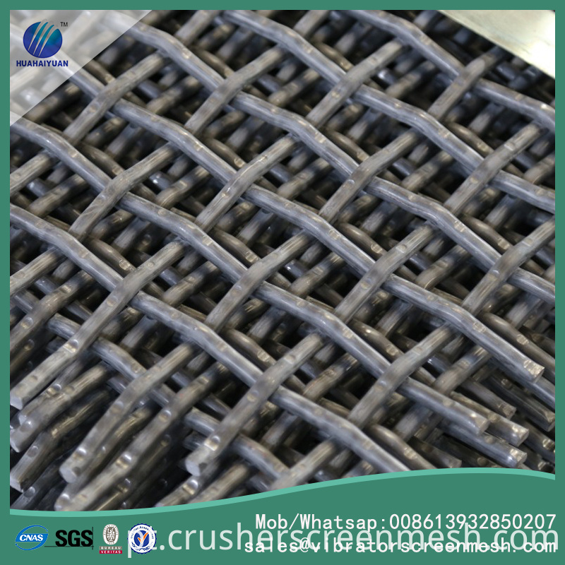Flat panel crusher screen mesh