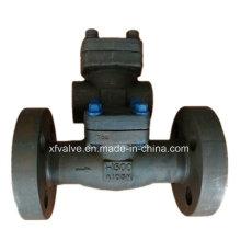 Clapet anti-retour d'oscillation d'extrémité de bride d'acier au carbone A105 de 1500lb forgé
