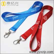 customized polyester sublimation necklace adjustable cord lanyards