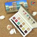 Косметика белый картон форма книги палитра теней 12 warna