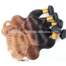Balayage color hair weave 100% human remy hair