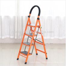 Escada de dobramento flexível do treinamento do lazer da escada de aço do agregado familiar de quatro etapas