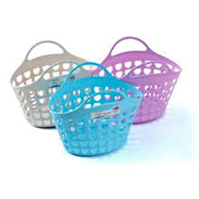 Plastic Fashion Design Basket with Handle