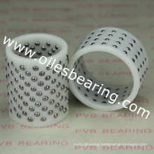 POM plastic brass ball cage bearing,hot sell FZP retaining ball bushing,guide ball bush China factory