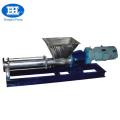 Stainless steel paste screw pump for food industry