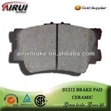 D1212 desempenho cerâmica freio pad para Toyota Camry