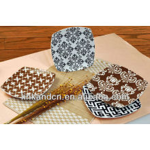 KC-00367/12 ceramic pizza plate/beautiful square plate set