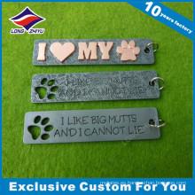 Cartas personalizadas metal etiqueta de perro para el amor