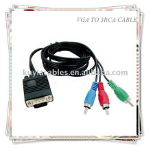 VGA HD15 SVGA zu 3 RCA COMPONENT KABEL HDTV TV