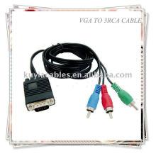 VGA HD15 SVGA a 3 RCA COMPONENT CABLE HDTV TV