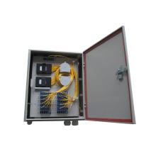 Caixa de distribuição de fibra óptica de plástico impermeável ao ar livre para divisor de PLC