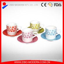 Kurze Anzug-Kaffeetasse Weiße Kaffeetasse-Porzellan-Kaffeetasse