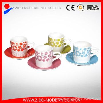 Taza de café de la taza de café blanca de la porcelana