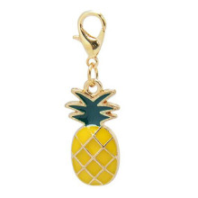 Exquisite Enamel Pineapple Fruit Keyring Charms