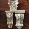 Lareira decorativa esculpida mísulas corbel romana floral