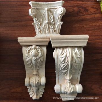 Decorativo tallado chimenea ménsulas floral romana corbel