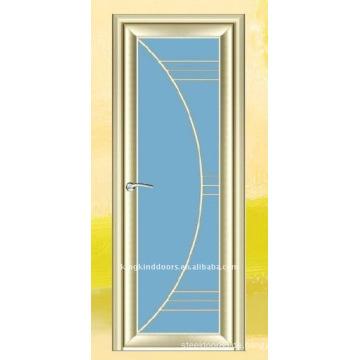 Transversale Tür Aluminium Tür Glas Badezimmertür KKD-916
