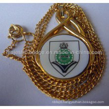 Gold Plating Offset Cut out Pendant