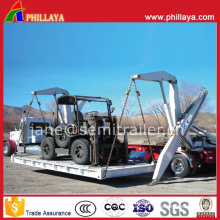 3axles Chassis 40tons Hydraulic Sidelifter Self Loader Container Crane Trailer