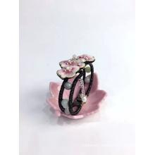 Hand Embroidered Bracelet Lotus