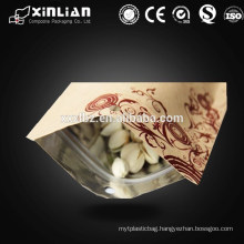 Printed flat handle kraft paper bag china